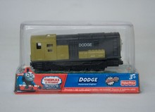DODGE train, yellow, Electric Thomas And Friend Trackmaster Engine Motorized Train - Henry & Truck , Plastic Toy Train