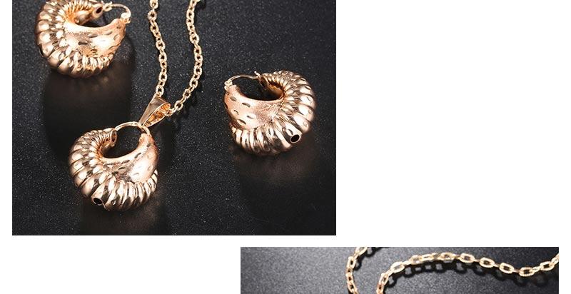 AYAYOO African Beads Jewelry Set Gold Costume Dubai Luxury Bridal Jewelry Sets For Women Statement Vintage Necklace Set  (4)