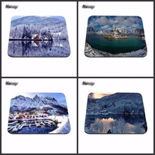 Beautiful Snow Village  Top Selling Luxury Print Item Game Gaming Durable PC Anti-slip Mouse Mat for Optical/Trackball Mouse