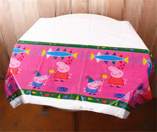 1pc 108*180cm Pink Pig Disposable Table Cloth Table Cover Tablecloth Cartoon Theme Kid Boy Birthday Party Map Supplier