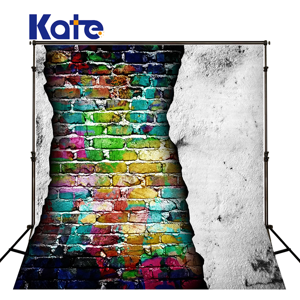 Kate Colorful Brick Wall  Props Photography Photobooth 10x10ft Children Photocall Washable  Brick Photography Background <br>