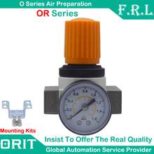 Free Shipping Air Gas Control Compressor Parts High Pressure Relief Regulating Valve Festo OR-MINI Type Regulator With Gauge