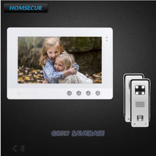 HOMSECUR 10.1inch Video Intercom System With Real-time Outdoor Monitoring And Adjustable Color(China)