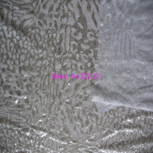 2Yards/Lot 120CM 3MM+3MM Leopard Design Sequin Gauze Embroidery Fabric Material Textile For Sewing Dress Making Fabric