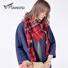VIANOSI Fashion Winter Scarf Women Luxury Brand Scarves Ladies Wraps Warm Shawls Scarf For Women Triangle Drop Shipping VA241(China)