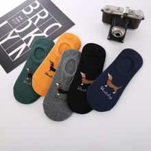 5pair/lot Mens Invisible Socks Silicone Boat Socks Casual Male Summer Short Dog Sock