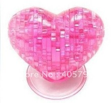 Popular Item,3D Crystal Puzzle of Heart,Lover Gift(China)