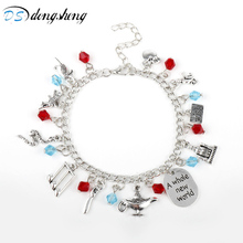 Aladdin Charm Bracelets & Bangles Letter A Whole New World Animals Dream Life Wish Dog Tag Crystal Romantic Bird Bracelet-20