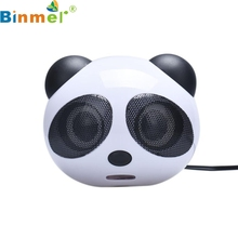 Top Quality Cute and Fashion Panda USB Subwoofer Speaker Music Player for Computer Desktop PC MAY 11