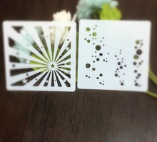 2pcs Light Bubble Scrapbooking tool card DIY album masking spray painted template drawing stencils laser cut template AP7072303(China)