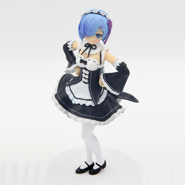Anime Re: Zero Kara Hajimeru Isekai Seikatsu Ram / Rem Maid Ver. PVC Action Figure Collectible Model Toy 20cm KT3306<br><br>Aliexpress
