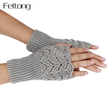 New Paragraph Knitting Fingerless Gloves Women Fashion Lady Casual Autumn Winter Gloves Girls Womens Hand Mittens Luvas #JOYL(China)