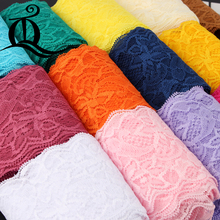 1yard 8cm Garment accessories exquisite color lace quality fabric lace with elastic lace wide 8cm Elastic lace,ribbon