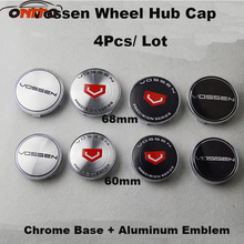 Good Quality Chrome 4PCS /lot 60mm 68mm car Emblem Badge wheel Hub Caps For VOSSEN Auto wheel center caps Car Covers(China)