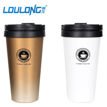 2017 New Stainless Steel Car Flask Fashion Coffee Holder My Bottle Of Water For Self-Driving Travel Insulation Drinkware BT026(China)