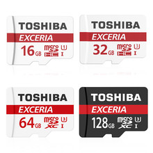 Original Toshiba Micro sd card Exceria U3 90M/s micro sd memory card 16GB/32GB/64GB/128gb TF best choice for 4K video for camera(China)