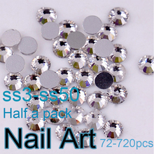 Glitter Rhinestones SS3-SS50 Crystal Nail Art Rhinestones With Round Flatback For Nails Decorations Bags And Clothes