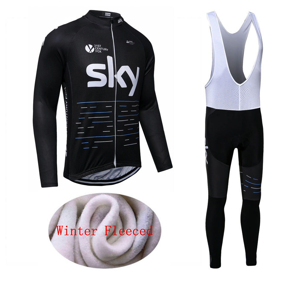 2017 New Arrival SKY Winter Thermal Fleece Bike Cycling Sets Bike Clothing Ropa Ciclismo Invierno/Bicycle Sets<br>