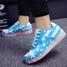 Led Luminous Shoes Men Led Shoes With lights for Adults Men Tenis de Led USB Charging Glowing Valentine Shoes size 35-44