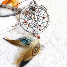 1PC Handmade Dream catcher Wind Chimes Indian Style Feather Pendant Dream Catcher for Home Car wall Decorations Ornament Gift