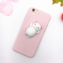 3D Silicon Cartoon Animal Cute Sea Lion for iPhone 5 5S SE Cases Soft TPU Squishy Phone Case For iPhone 5S 6 6S 6 Plus 7 7 Plus