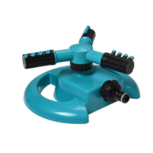 Garden Sprinklers Water Durable Rotary Three Arm Water Sprinkler 360 Degree Automatic Rotating Water Sprinkler System(China)