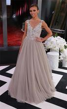 2017 Gorgeous Robe de Soiree Exquisite Lace Appliqued Celebrity Dresses 2014 Oscars Red Carpet Dresses Formal Evening Gowns