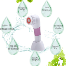1 PCS  4 In 1 Portable Multifunction Electric Face Facial Cleansing Brush Cleaning Personal Care Pore Deep Cleaner