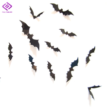 12PCS/Set 3D PVC Bat Wall Sticker Boys Living Room Decor Creative DIY Wall Decals Home Decoration Accessories Cheap Y46(China)