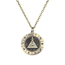Gravity Falls Bill Time Gem Cabochon necklace Strange Town choker vintage necklace pocket watch shape alloy pendant keychain