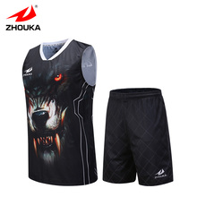 custom basketball shirt team training suit print personalized basquete jersey 100%polyester OEM basketball team jersey set(China)