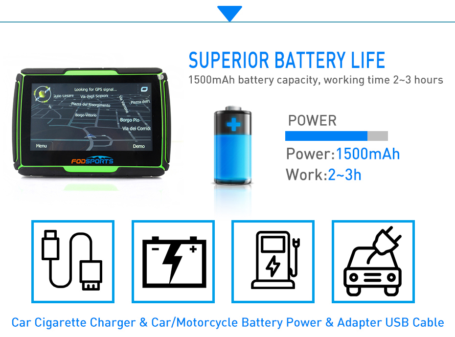 Super power GPS Navigation Battery