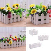 Wooden Fence With Foam For Artificial Flower Vase Home Decor 10cm 16cm 30cm