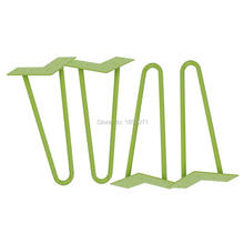 "12"" hairpin legs - green - 1/2"" steel rod - set of 4 - Coffee Table Legs, barber chair legs(China)"