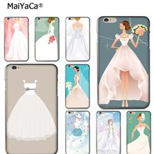 Buy MaiYaCa cartoon lovely Wedding Dress New Luxury fashion cell phone case cover Apple iPhone 8 7 6S Plus X 5S SE 5C case coque for $1.43 in AliExpress store