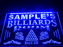 DZ011- Name Personalized Custom Billiards Pool Bar Room Neon Sign   hang sign home decor  crafts