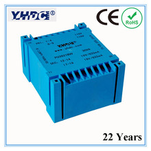PU3921BW Manufacturer of UI type 30VA 2*110V 2*18V PCB encapsulated transformer