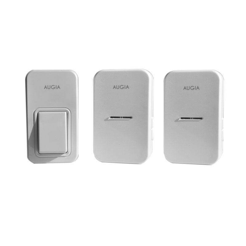 Augia 1 button + 2 receivers wireless home bell loud sound 110m long range waterproof button ring call free shipping doorbell<br>