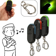Wireless Anti-Lost Alarm Key Finder Locator Whistle Sound LED Light Keychain(China)
