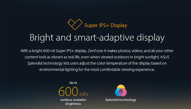 ASUS ZENFONE 4 ZE554KL 4G LTE Smartphone