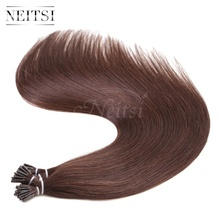 "Neitsi Keratin Capsule Hair Extensions 2# dark brown I tip Stick tip Real Indian Virgin Remy Human hair pieces 20"" 1g/s 50g 100g"