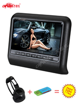 CARAVAN Hot Sale 9 inch HD LCD Screen Portable Car Headrest DVD Monitor Player 800*480 x 3color Black/Gray/Cream(China)