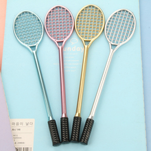 10pcs/lot Creative stationery wholesale Badminton racket gel pen black 0.38 mm sports pen school supplies