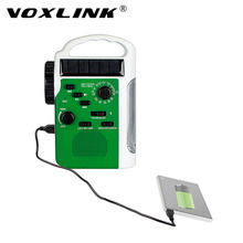 VOXLINK Solar Hand Crank Radio Emergency Radio Colorful Receiver Multi-functional AM/ FM Receiver Bluetooth Speaker Flashlight