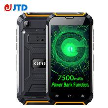 Big Battery 7500mAh Original GEOTEL G1  Power Bank Function Smartphone Android 7.0 MTK6580A Quad Core 8MP+2MP 5.0'' Mobilephone