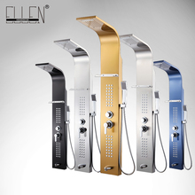 Shower Panel 5 Color Stainless Steel Rainfall Shower Set  Massage System Faucet with Jets with Hand Shower Tower Shower Column