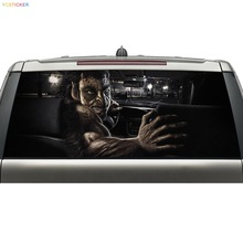 china supplier new design car rear windshield see through stickers waterproof vinly decal with free shpping(China)