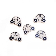 20pcs 25x18mm Wood Dye Car Spacer Beads For Baby DIY Crafts Kids Toys Spacer Beading Bead Jewelry Making DIY