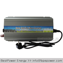 Solar Power 1000W Inverter Grid Tie 10.5-28V DC to AC 180-260V MPPT Pure Sine Wave Inverters for 1250W 18V Solar Panel