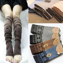 Christmas Snowflake Patchwork Women Winter Warm Knitted Leg Warmers Winter Popular Boot Socks